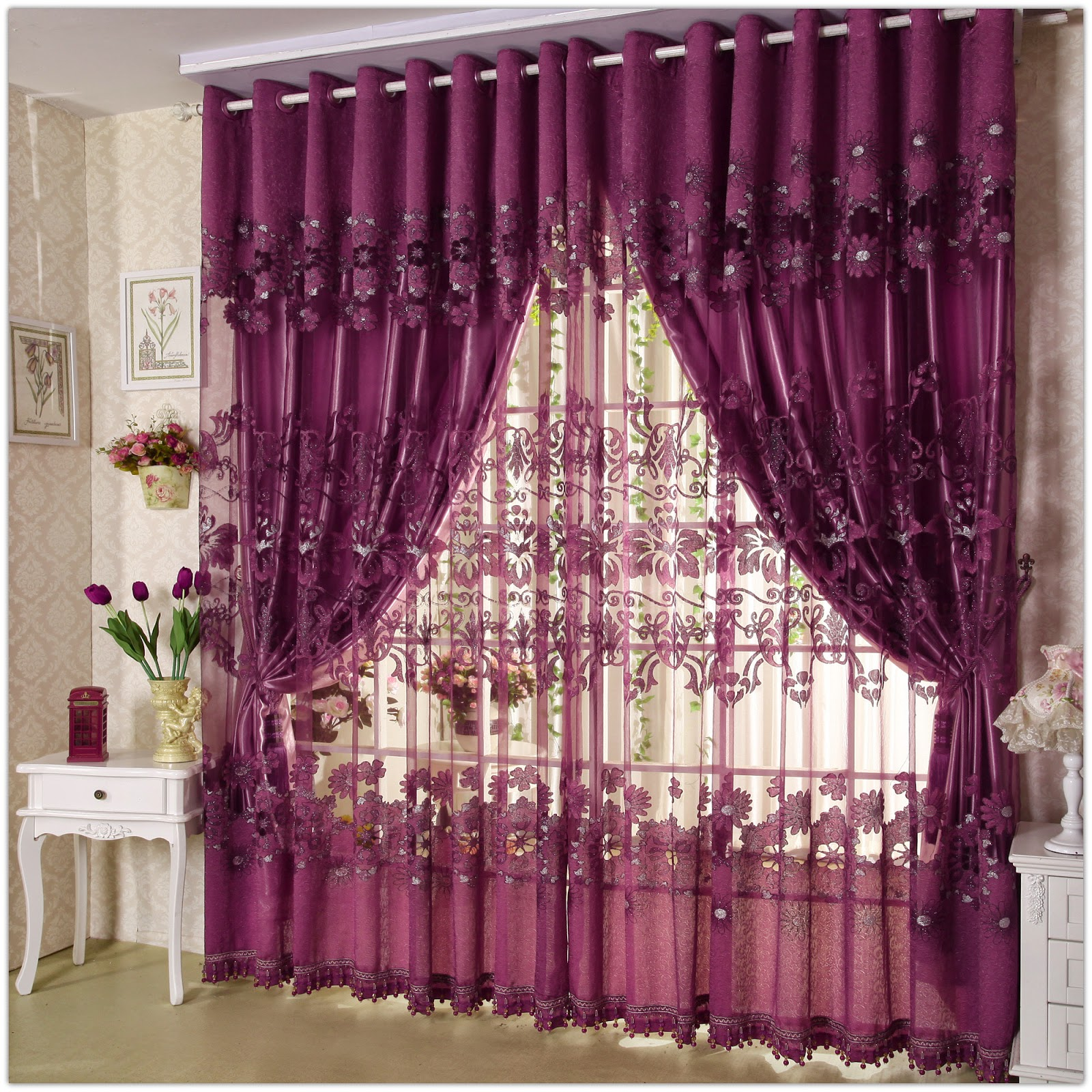 Unique Curtain Designs For Living Room Window Decorations