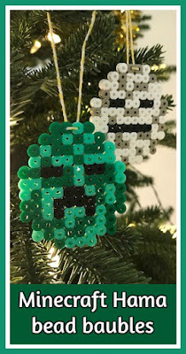 How to make Minecraft Hama bead baubles