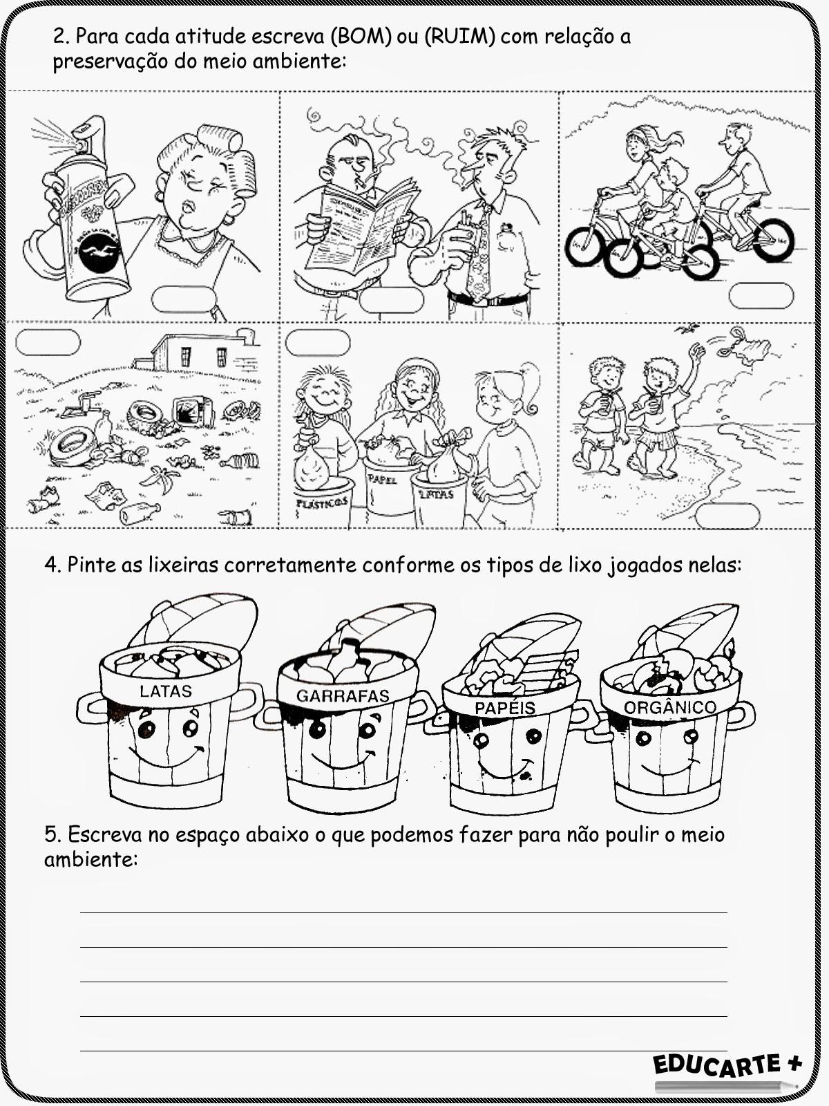 Educa X Atividades Ciencias 6 Ano Lixo