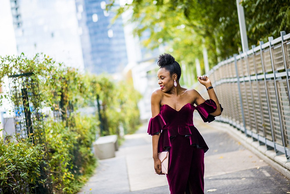 Holiday Fashion: Velvet Dress