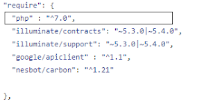Portion of composer.json of laravel-analytics 1.4.1