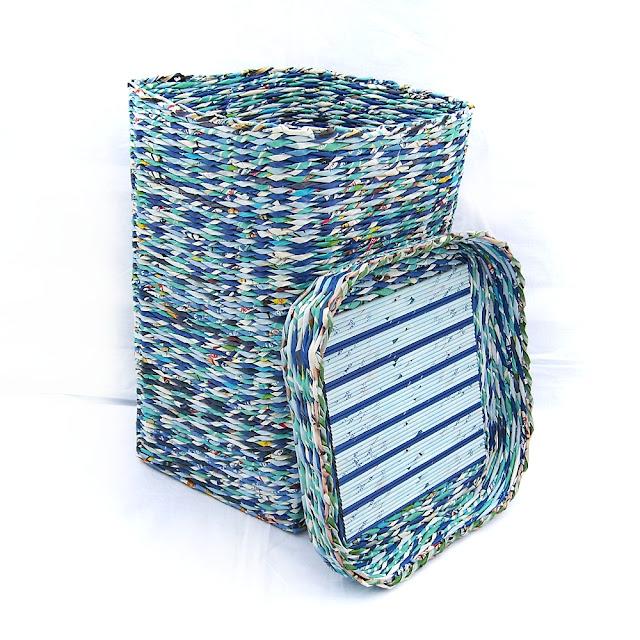 koszyk w niebieskościach