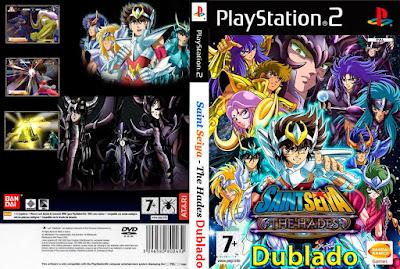 Jogo Saint Seiya - The Hades Dublado PS2 DVD Capa