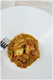 ensalada de quinoa- quinoa recetas- quinoa con setas- hamburguesas de quinoa- arroz con leche de quinoa- gofres de quinoa-