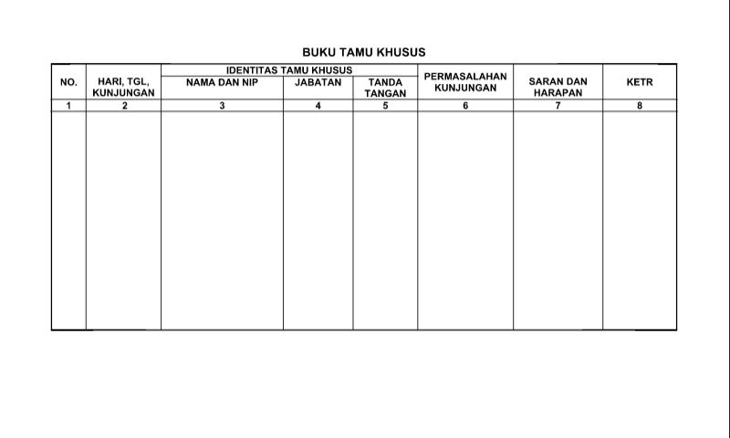 Download Buku Tamu Khusus dalam Administrasi Tata Usaha Sekolah (TU)