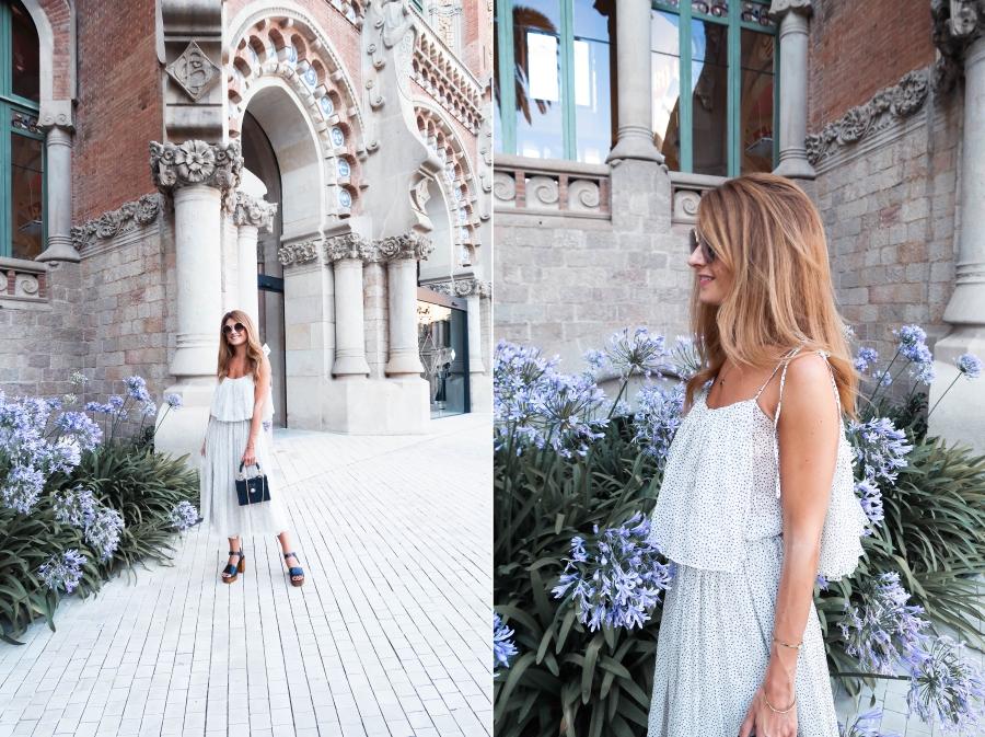 a trendy life fashion fashion blogger tcn tcn fashion show 080bcnfashion vestido vaporosoIMG 0040 side - VESTIDO MIDI VAPOROSO - 080 BARCELONA FASHION