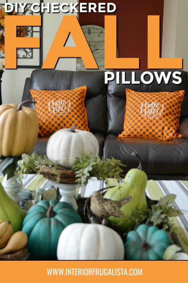 Fall Checkered Pillows DIY