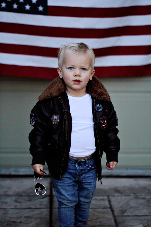 Toddler Top Gun bomber jacket