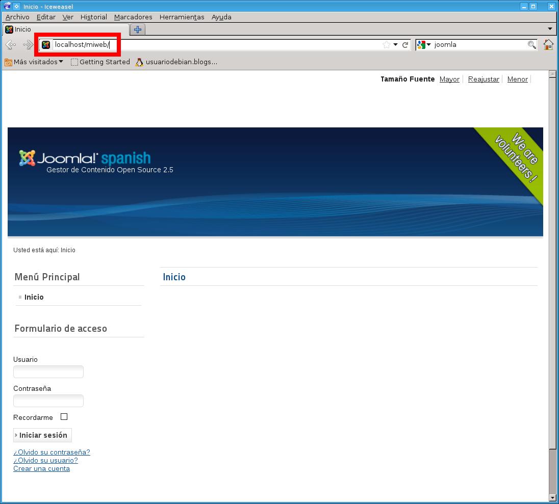 UsuarioDebian: Joomla - crear paginas WEB
