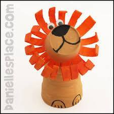 Idea to make lion from plastic cup for kids