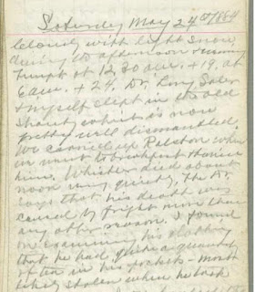 Page 221 of Brainard's diary