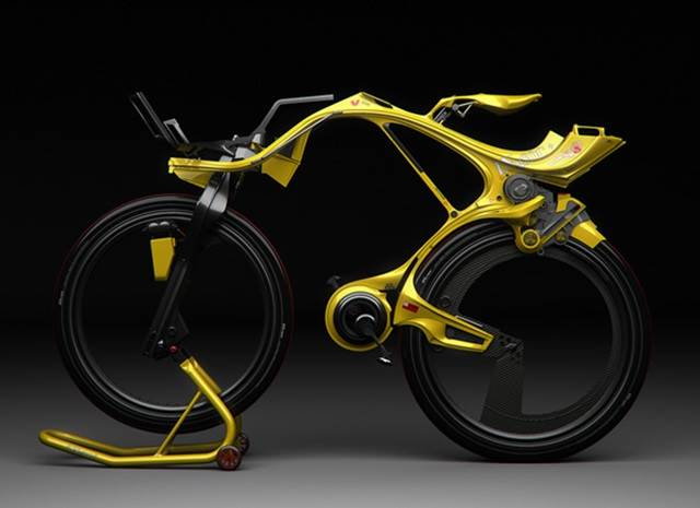 pandangan sisi basikal