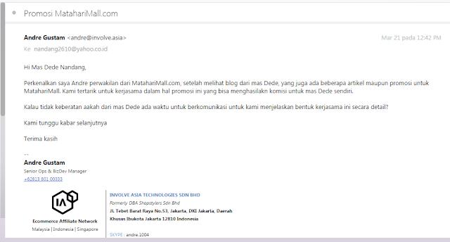 Involve Asia : 1 Akun Affiliasi Untuk beberapa E-Commerce Besar Indonesia