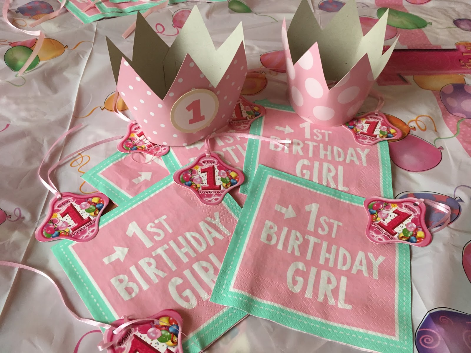korona na roczek dla dziewczynki