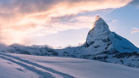 Swiss Alps. Matterhorn. Mountain Peak 4K