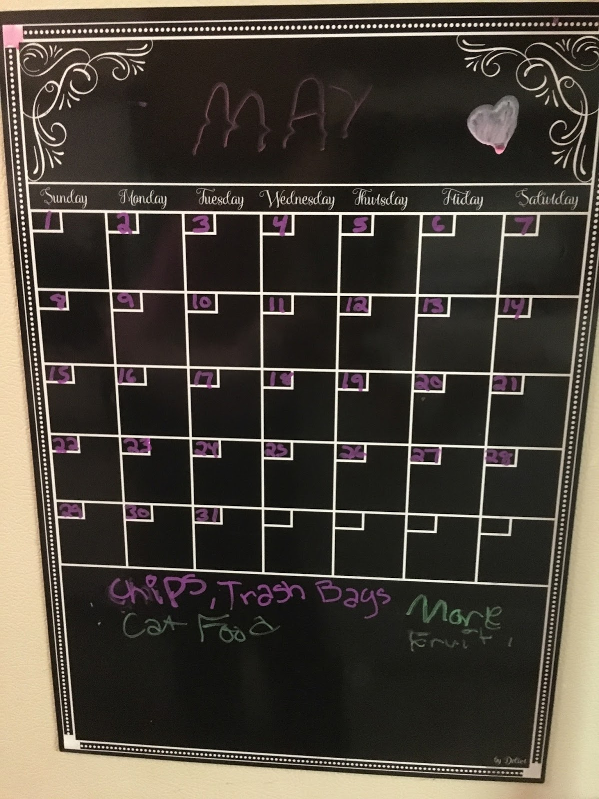 I Really Like This Dry Erase Calendar For The Fridge Have Some Chalk Markers That Use On It And They Work Well You Can Over