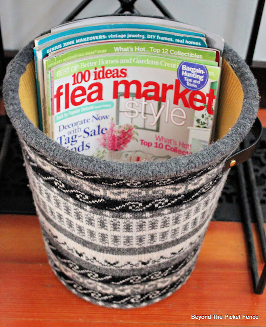 Make A Cozy Sweater Basket From Thrift Store Finds