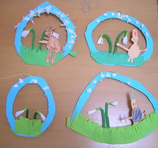 Fensterbild Schneeglöckchen, Schneeglöckchen basteln, feies Gestalten im Kindergarten, Frühlingsdeko im Kindergarten, Fensterbild Frühling