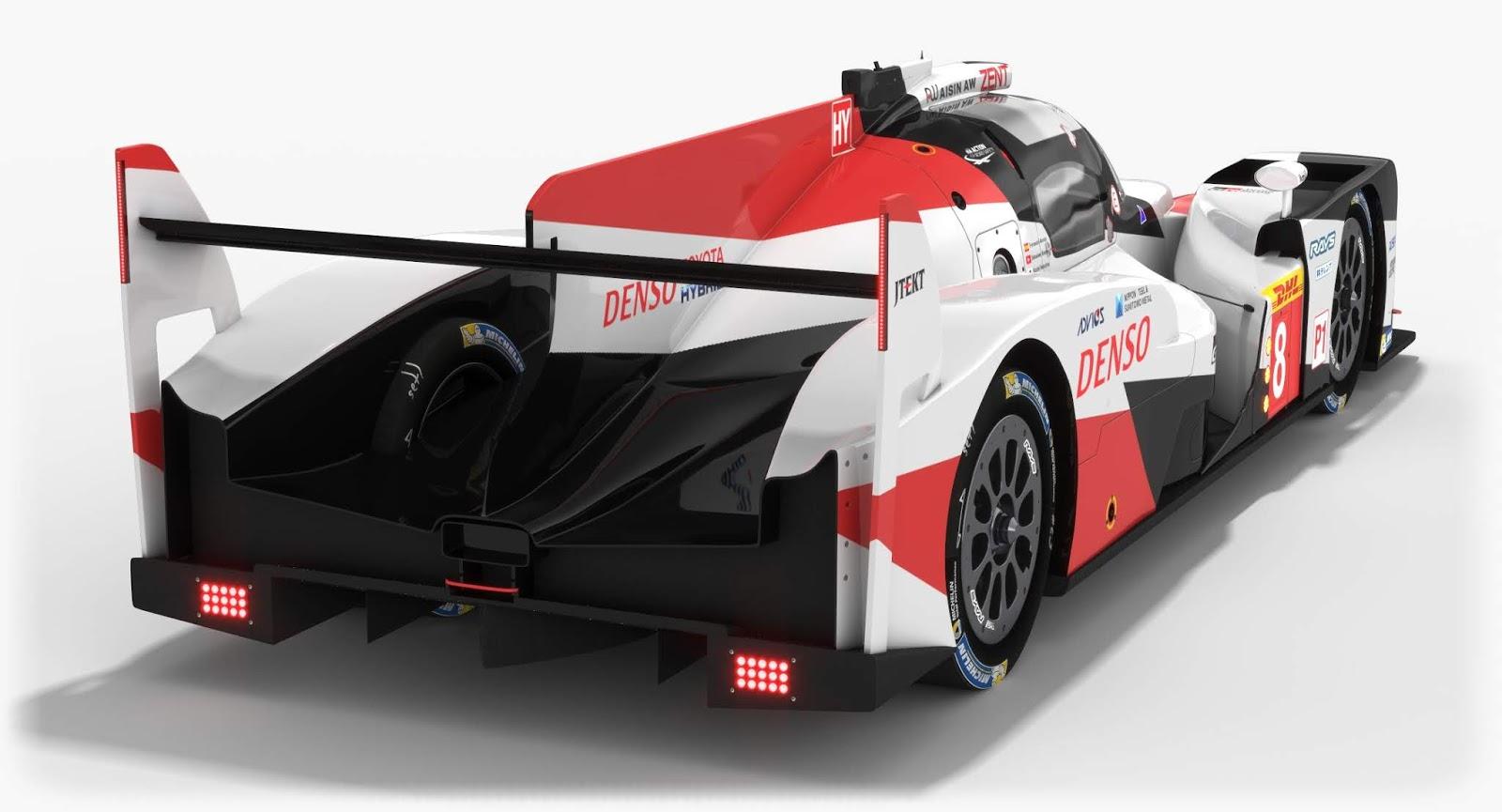 Toyota Gazoo Racing TS050 Hybrid LMP1 WEC Season 2018 3D Model