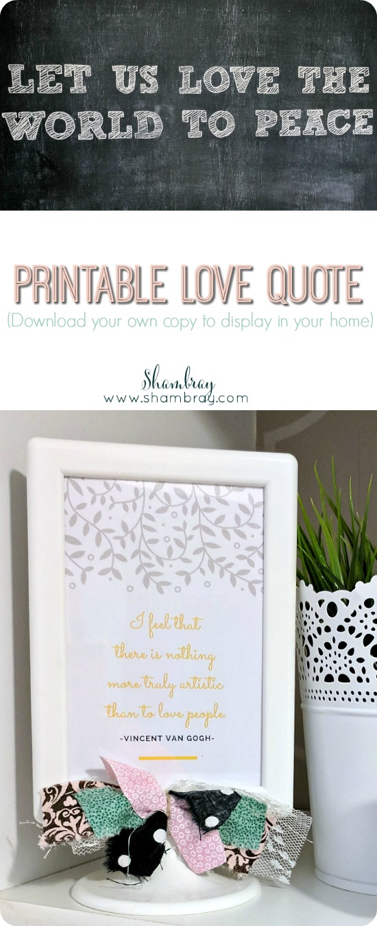 Printable Love Quotes Enchanting Shambray Printable Love Quote