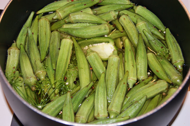 Spicy Pickled Okra ... no canning required ~ The Kitchen is My ...