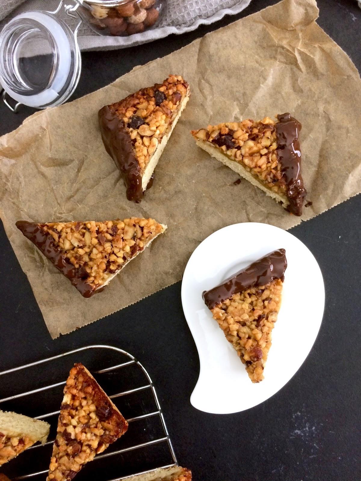 Vegane Nussecken - Anna Lee EATS | Foodblog mit gesunden Rezepten