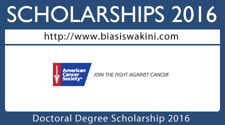 Doctoral Degree Scholarships 2016
