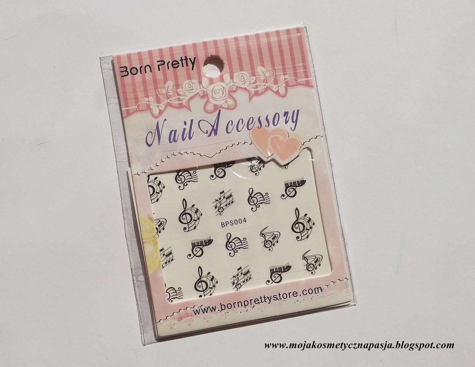 Born Pretty Store- stylizacja z wykorzystaniem naklejek wodnych