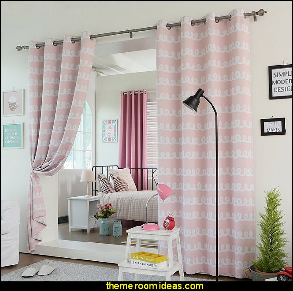 shared bedrooms ideas - decorating shared bedrooms - siblings sharing bedroom - Shared spaces - boy and girl shared room - Shared Kids Room decorating - Room dividers - shared bedroom spaces - curtains - Room Divider Curtains