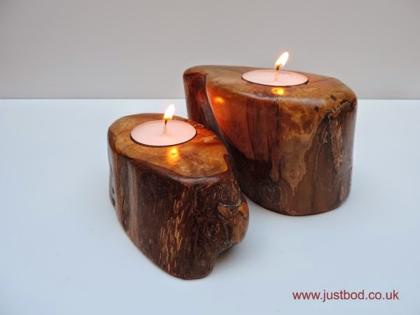 Sculpted Hawthorn tealight holders