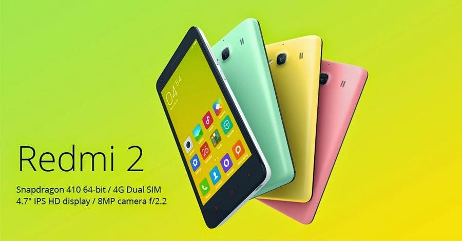 Xiaomi Redmi 2 4G Android Murah RAM 2 GB Rp 1 Jutaan