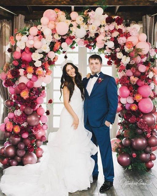 Balões e bexigas em casamentos