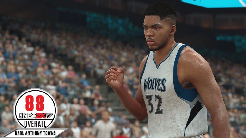 Karl-Anthony Towns will be 88 OVR in 2K17 (Screenshot)