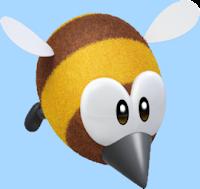 El abejorro volando