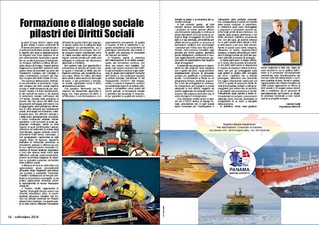 SETTEMBRE2018 PAG. 16 - Formazione e dialogo sociale pilastri dei Diritti Sociali
