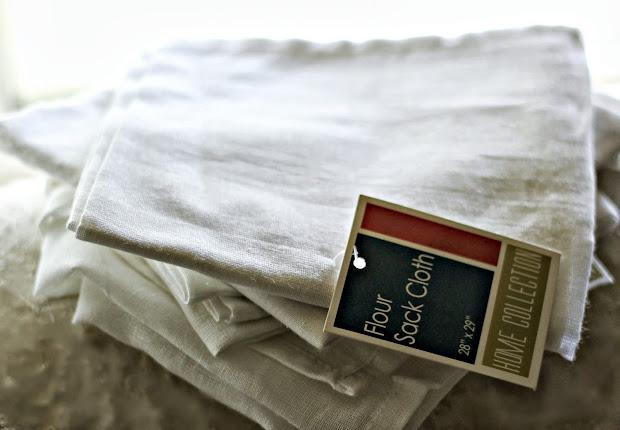 Shabby Sweet Cottage Dollar Store Flour Sack Pillows