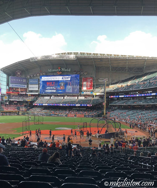 Pregame at  Minute Maid Park