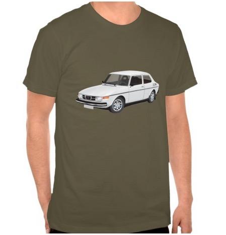 saab, saab99, t-shirt
