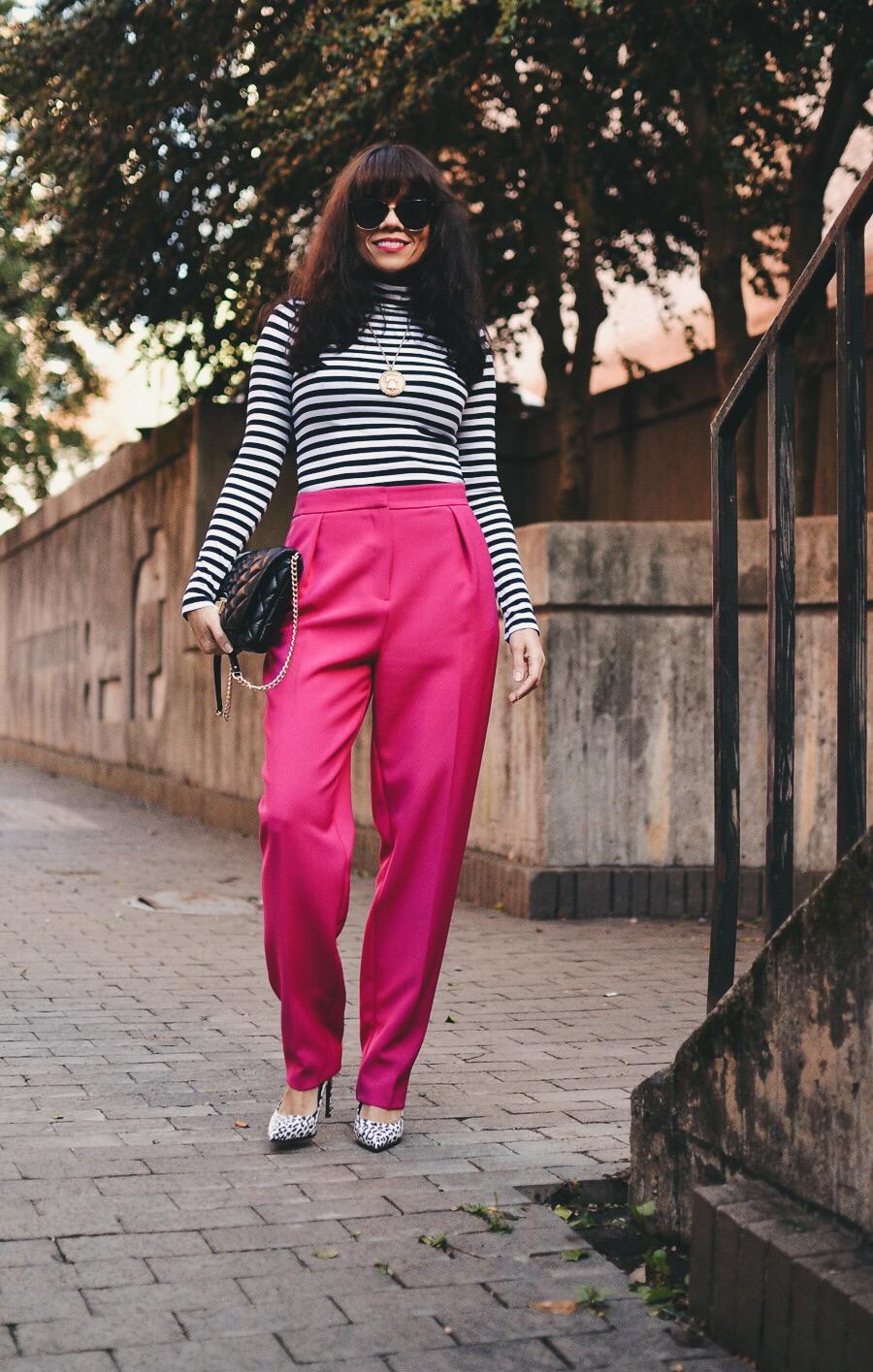 Peg pants street style