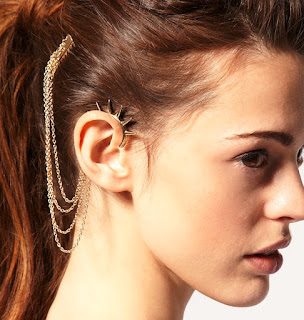 Ear Cuffs instead of Heavy Jhumkas-Spiked-Ear-Cuff-Cuffs Designer Online Shopping Store India