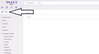 cara membuat email baru di Yahoo Mail