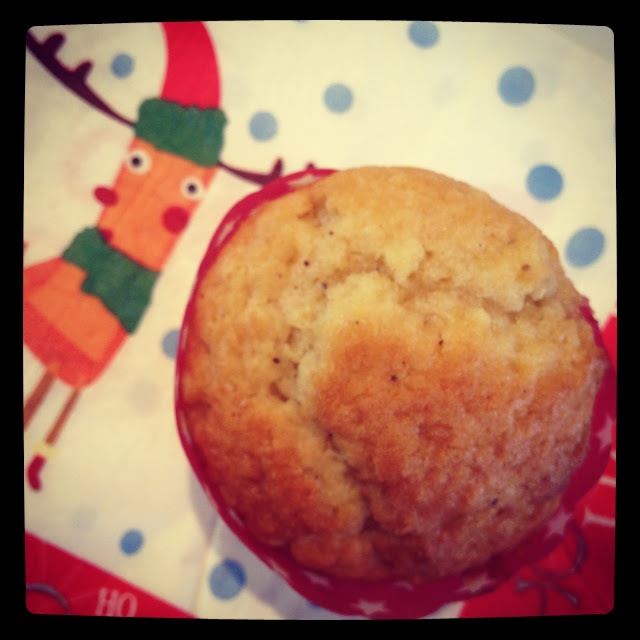 Muffins made with Eggnog , #Christmas