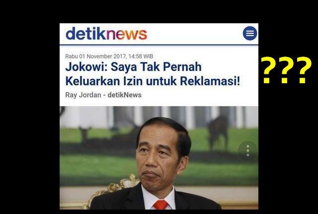 Nahloh! Mantan Anak Buah Jokowi Sebut Ada 2 PERGUB Jokowi Terkait Reklamasi