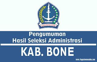 Pengumuman Seleksi Administrasi Kabupaten Bone