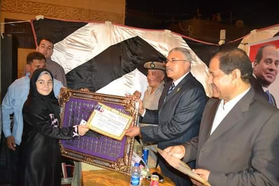 محافظ الغربية ومدير أمن الغربية يكرمون حفظة القران الكريم بقرية سملا مركز قطور.