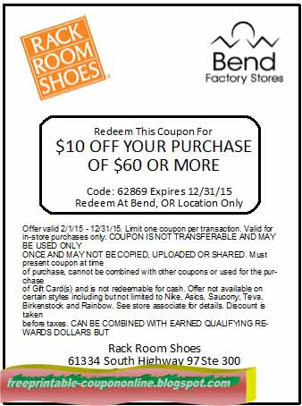 Rack room $10 coupon