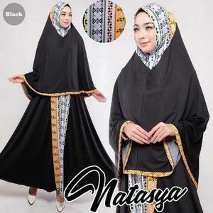 Gamis-Syar'i-Murah-Natasya-black-cantik-terbaru-modis