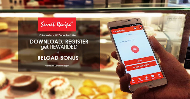 Secret Recipe Wallet Free Credit Reload Bonus