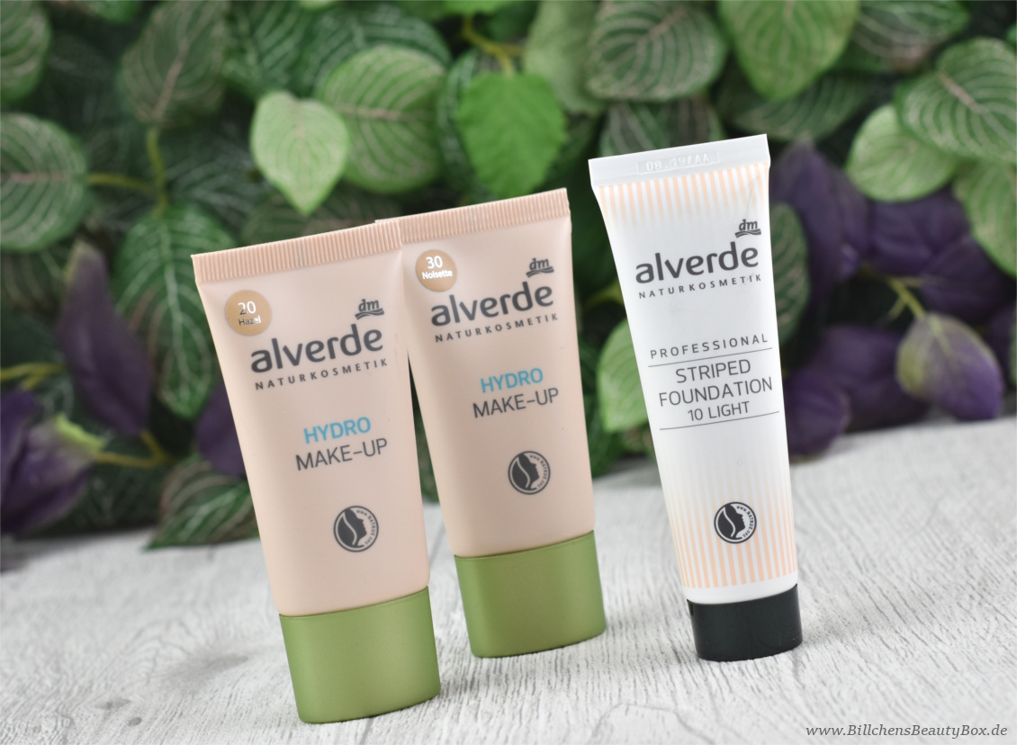 alverde Sortimentswechsel und Neuheiten Herbst / Winter 2017 - Hydro Make-Up und Professional Striped Foundation