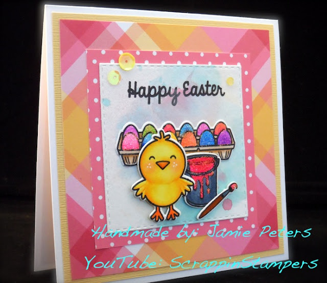 Sunny Studio Stamps: A Good Egg Easter Chick Card by Jamie Peters